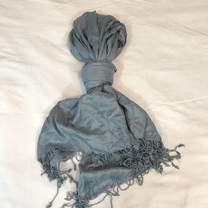 LAFAYETTE COLLECTION LIGHT BLUE SCARF